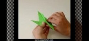 Origami a flapping bird out of paper
