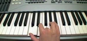 Play augmented chords on a piano or keyboard