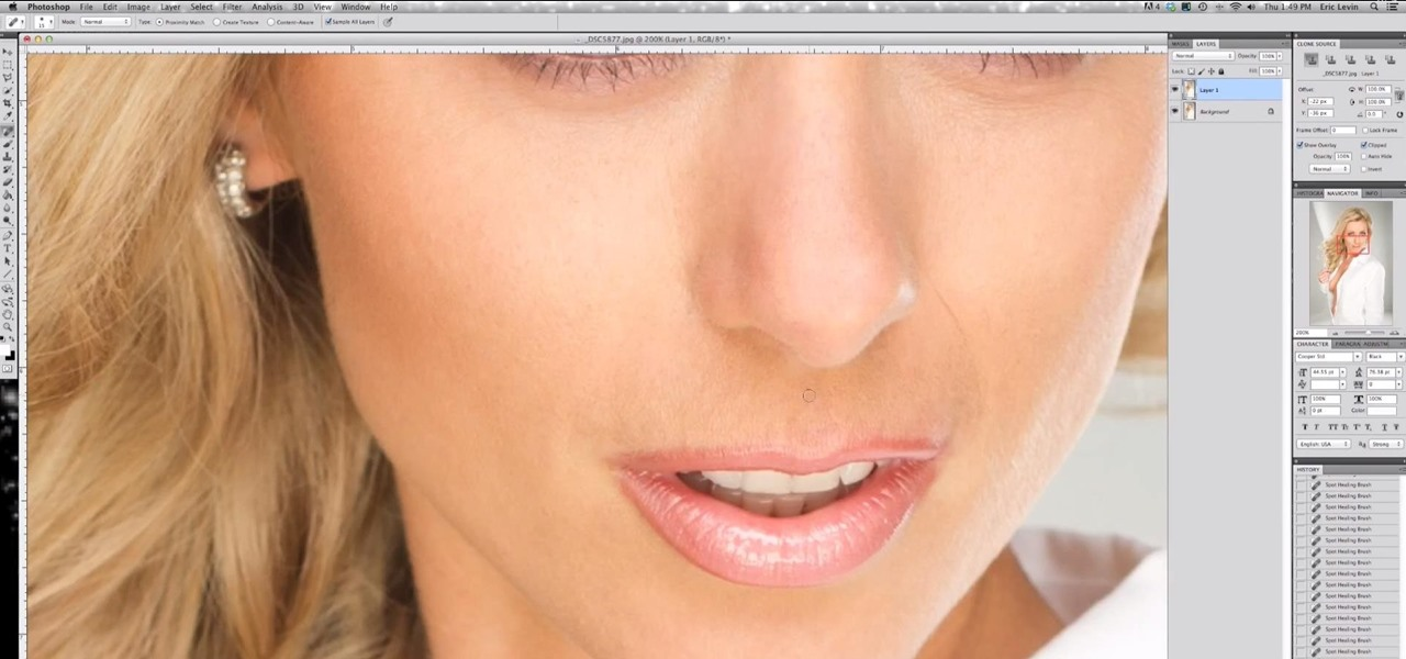 Basic Skin Retouching Tutorial with Eric Levin