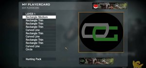 Create a custom OpTic Gaming logo playercard emblem in Call of Duty: Black Ops