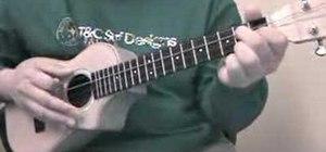 """Play the ukulele chord progression in """"C"""""""