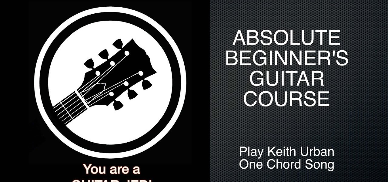 How To Play One Chord Song By Keith Urban How To Videos