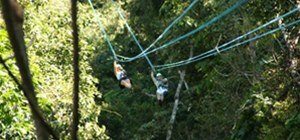 zip lining naked