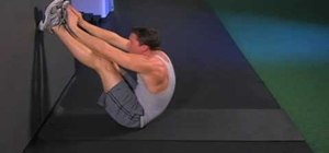 Do V situps with heels and legs straight on a wall