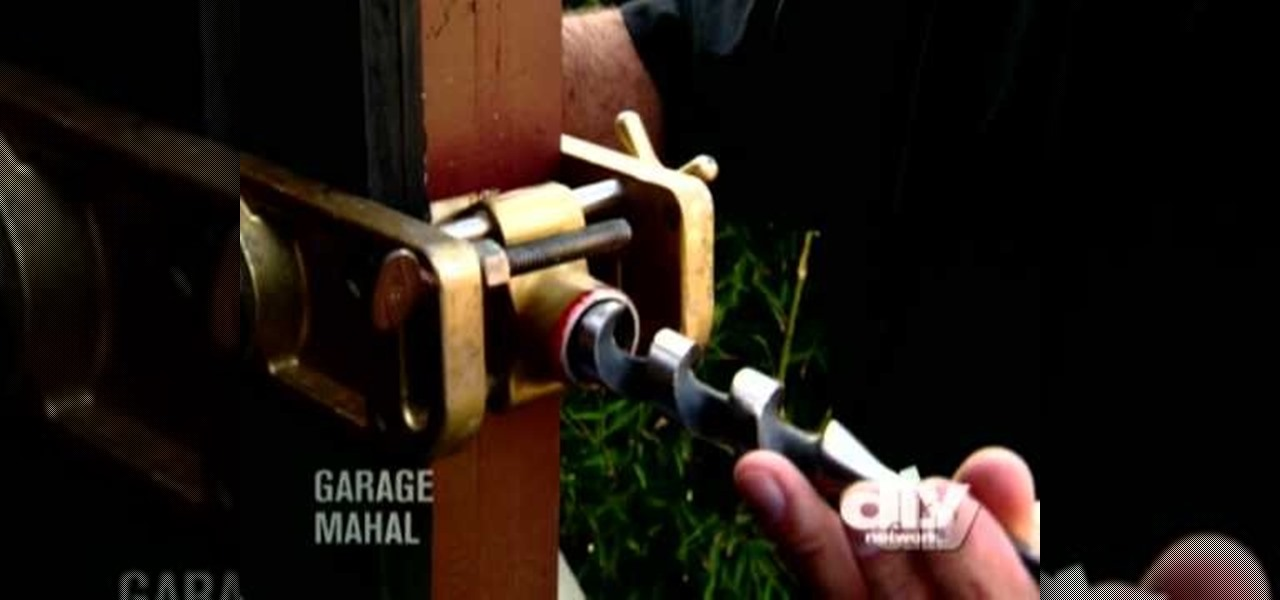 How To Install A Deadbolt Lock In A Wooden Door