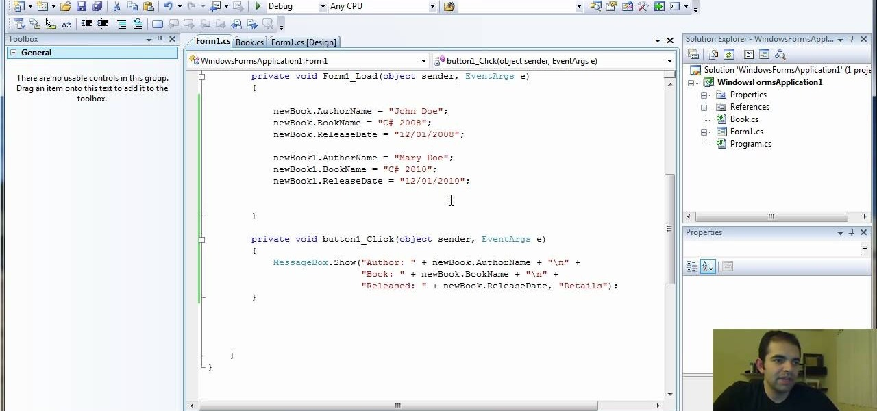 How to Add methods to a class in Visual Studio using C# programming