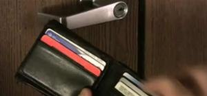 Open a locked door with a credit card