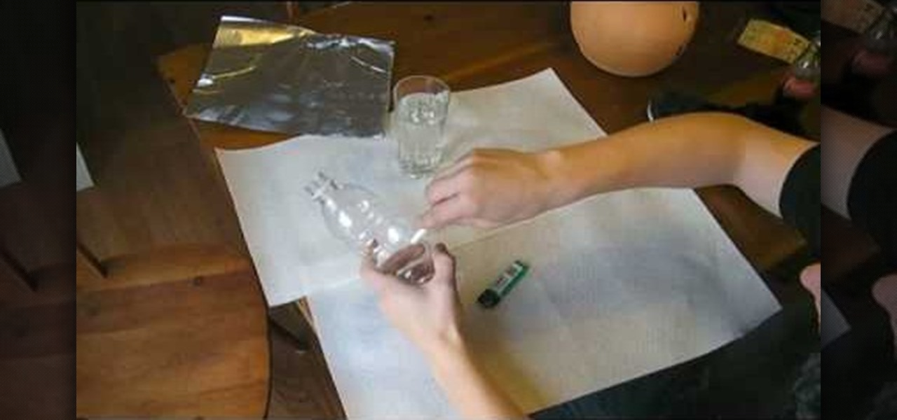 how to make a water bong with a water bottle