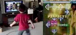 Baby Kicks Ass at DDR