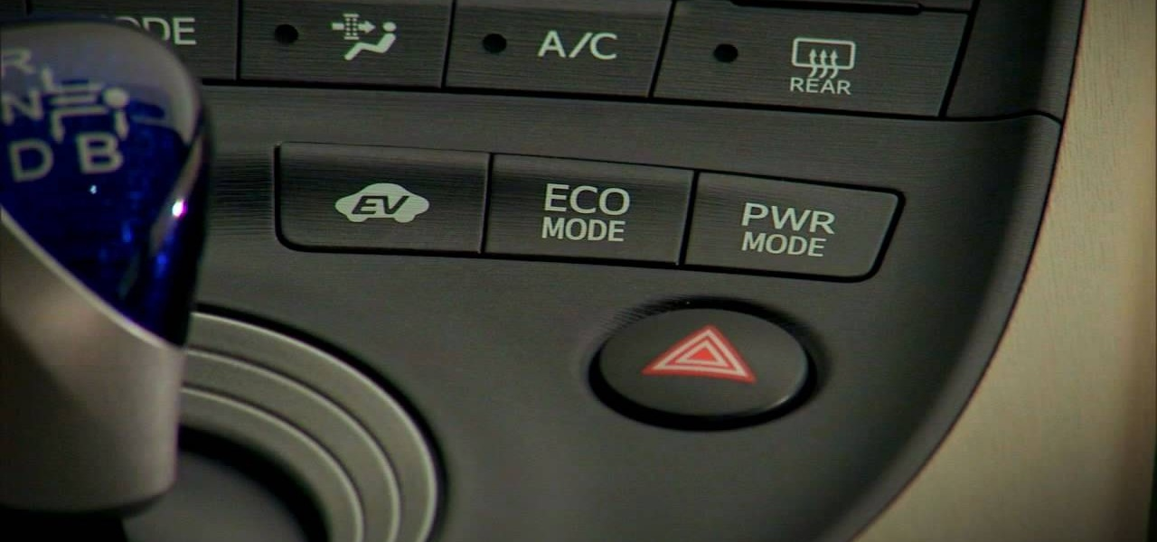 How To Choose Which Driving Mode Use In The 2010 Prius Safety Wonderhowto