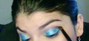 Apply a Loreal HiP blue makeup look