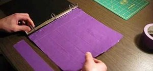 Make a school binder with duct tape