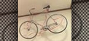 Store your bike in your apartment by hanging it from the ceiling