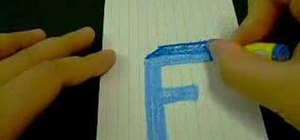 "Draw the letter ""F"" as a 3D block letter"