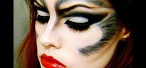Create a sultry she-wolf makeup look for Halloween