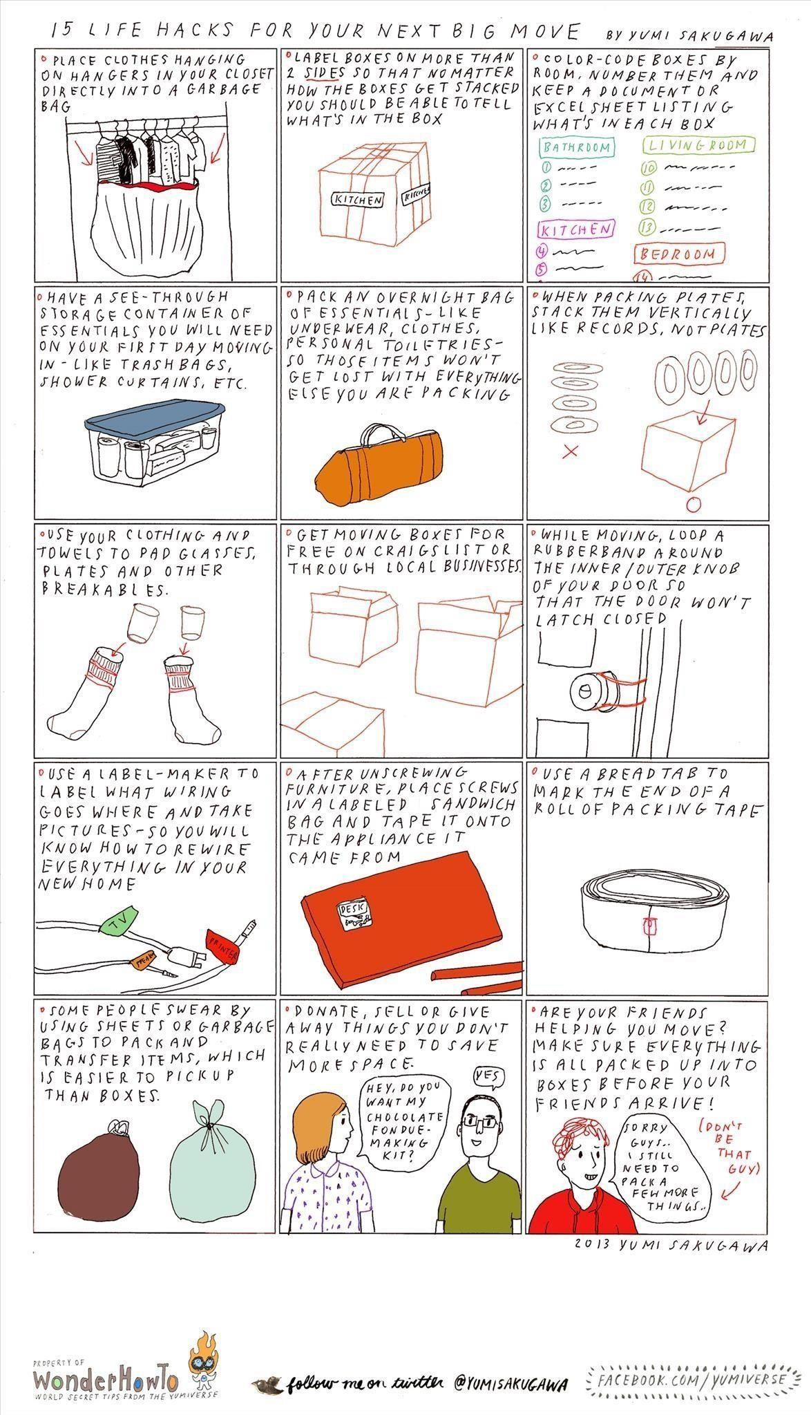 15 Life Hacks For Your Next Big Move The Secret Yumiverse