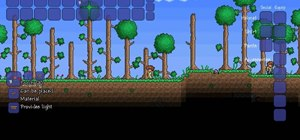 Craft a torch in Terraria