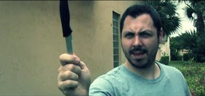 Knife someone in the face with film effects & tricks