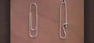 Turn a paper clip into a safety pin
