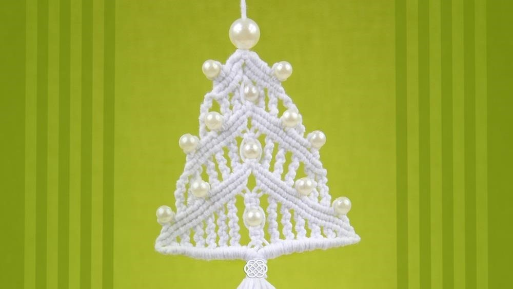 How to Make a Macrame Christmas Tree Ornament