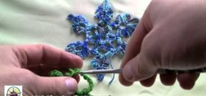 Crochet a snowflake as a holiday decoration