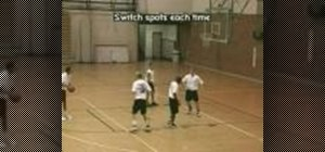 Practice four player rebounding basketball drills