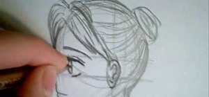 how to draw a sideways face