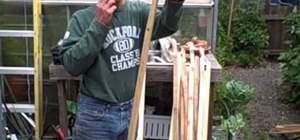 Make gardening tomato stakes out of cedar or redwood fence boards