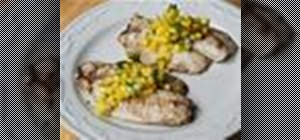 Grill fresh lemon tilapia with a fruit salsa topping