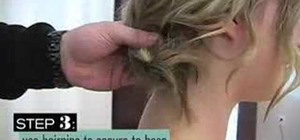 Style your hair in an easy updo