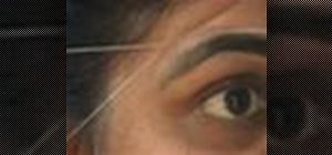 Do eyebrow threading properly