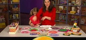 Make summer breeze spinners with Crayola