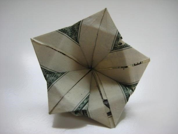 Easy Origami Money Rose