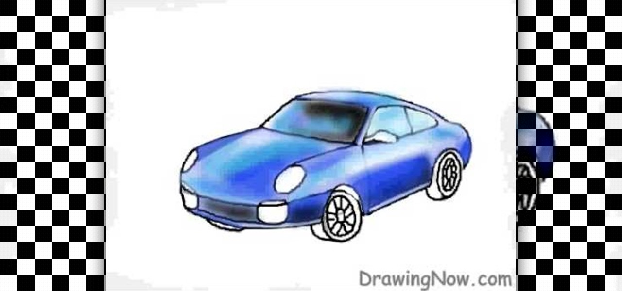 how to draw a race car porsche