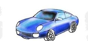 Draw a Porsche sports car