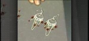 Make teardrop chandelier earrings