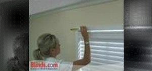 Install a grommet valance on a window
