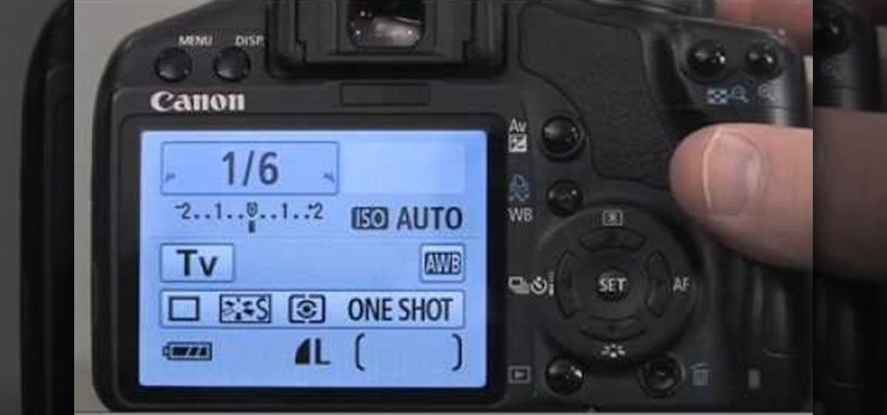 How to Set shutter priority settings on a Canon EOS Rebel XS