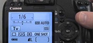 Set shutter priority settings on a Canon EOS Rebel XS (1000D)