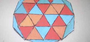 Make a geometric decorative paper tile with your kids