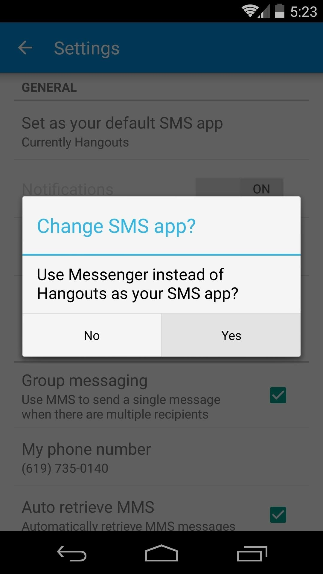 how to set up messenger on mac for sms