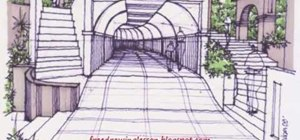 Draw and color a tunnel