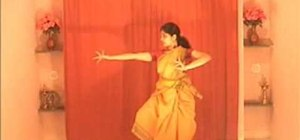 "Perform ""Visharu Adavu"" in Indian Bharatanatyam dance"