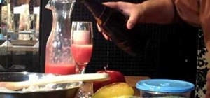 Make a strawberry bellini
