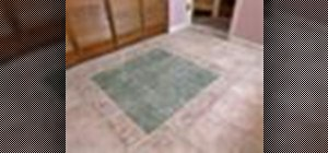 Easily set a ceramic tile floor in your bathroom