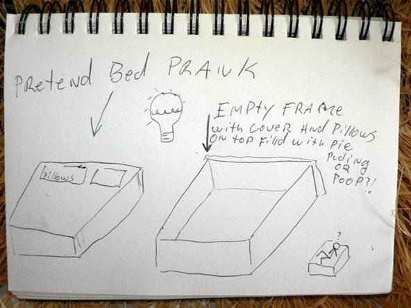 fake bed prank!!