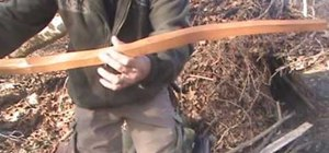 Build and use an Osage bow