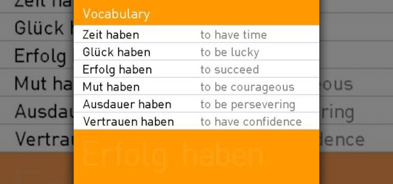 How to conjugate the verb haben in german in present for Porte french conjugation