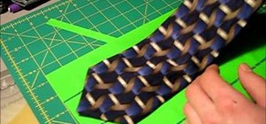 Make a clip-on tie out of duct tape