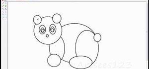 Draw a panda bear using only circles